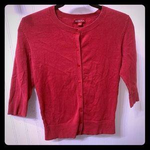 Merona Red Button Up Cardigan